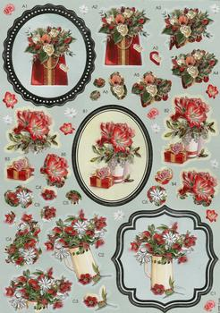 Roses & Lillies Diecut Sheet . *