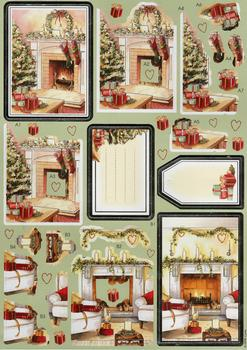 Traditional Christmas Scene Diecut Sheet . *