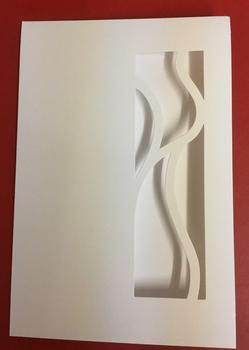 Pack of 5 White Aperture Card & Envelopes // LIMITED STOCK // -Jacksons mail Order