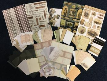 Scrapbooking Kit - Various Bitz and Bobs Included - Themed on Memories . *