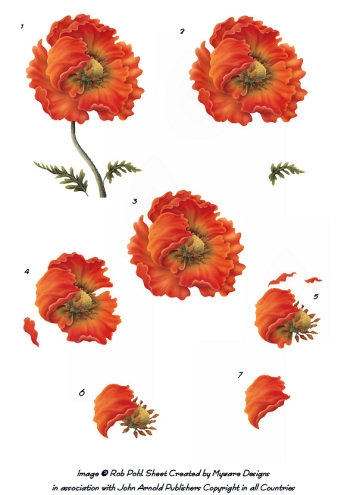 Step by step - Rob Pohl Poppy 3d Card Art Rob Pohl