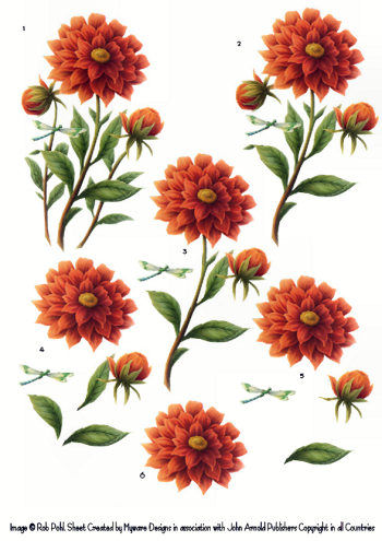 Step by step - Rob Pohl Red Dahlia 3d Card Art Rob Pohl