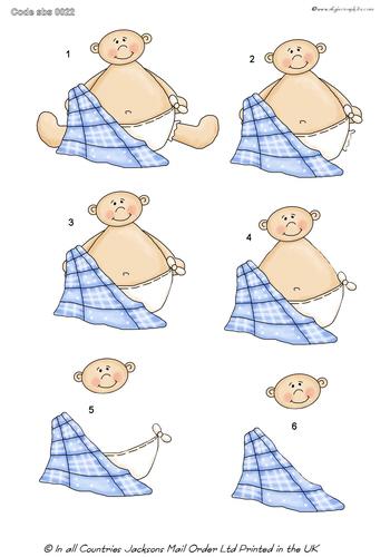 Large Decoupage - Baby's Blanket 3d Card Art RRP 75p
