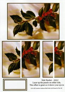 Side Stacker sheet - Christmas Holly . FANTASTIC OFFER!!!