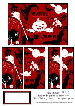 Halloween Scary Pumpkin and Accessories - Side Stacker Sheet -Jacksons mail Order