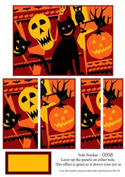 Halloween Side Stacker sheet - Cat & Pumpkin . FANTASTIC OFFER!!!