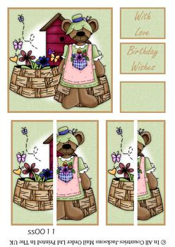 Teddy Bear Love Side Stacker Sheet . FANTASTIC OFFER!!!