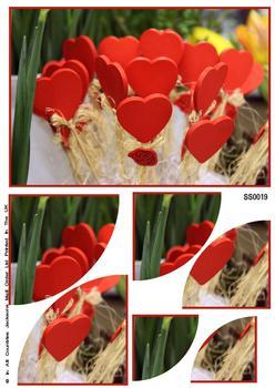 Valentine Hearts Corner Side Stacker Sheet . FANTASTIC OFFER!!