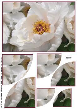 White Floral Bloom Corner Stacker Sheet . FANTASTIC OFFER!!