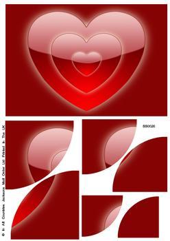 Valentine Large Heart Corner Stacker Sheet . FANTASTIC OFFER!!