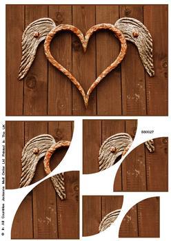 Heart with Wings Corner Stacker Sheet . FANTASTIC OFFER!!