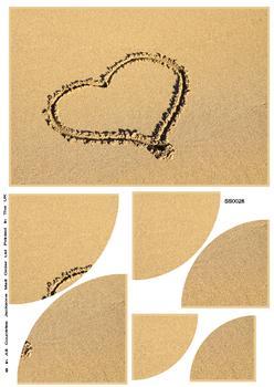 Heart In The Sand Corner Stacker Sheet. x FANTASTIC OFFER!!