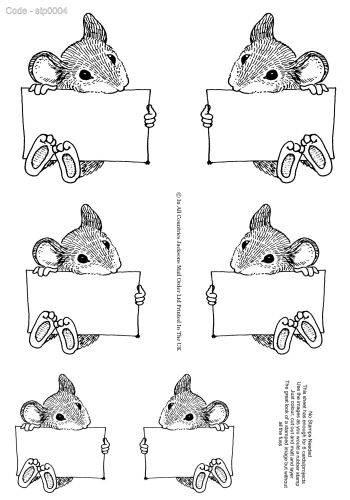 No Stamping Required - Mr Mouse 3d Card Art RRP 75p