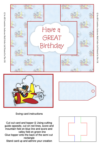 Swing Cards - Have a Great Birthday 3D Card Art RRP 85p
