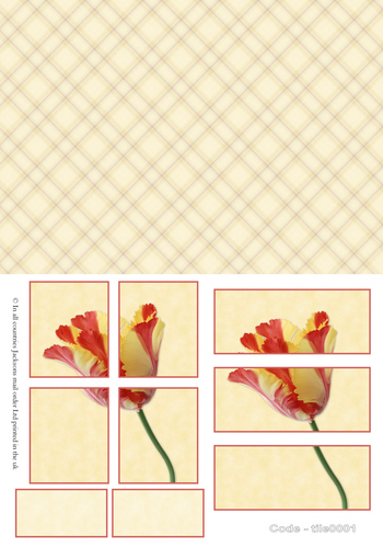 Large Tile Sheets - Floral 1 3D Card Art RRP 75p
