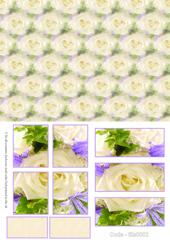 Large Tile Sheets - Floral 2 3d Card Art RRP 75p