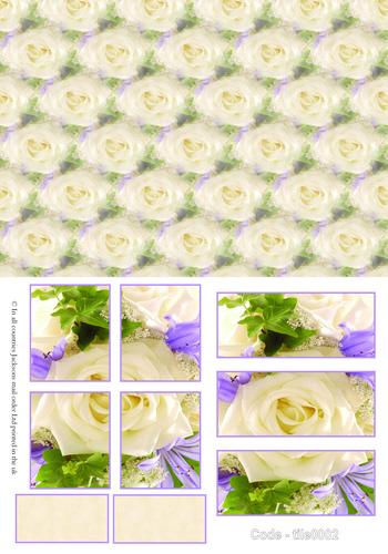 Large Tile Sheets - Floral 2 3d Card Art RRP 75p