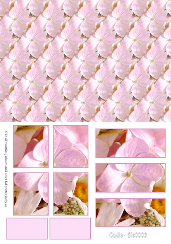 Large Tile Sheets - Floral 3 3d Card Art RRP 75p