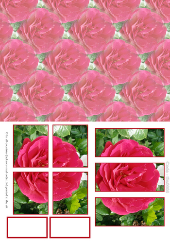 Large Tile Sheets - Floral 5 3D Card Art RRP 75p
