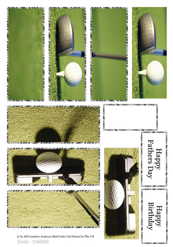 Large Tile Sheets - The Perfect Golf Shot 3D Card Art RRP 75p