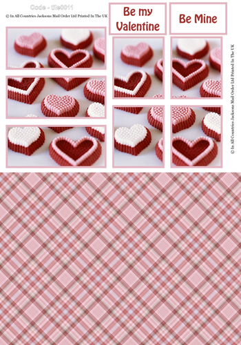 Large Tile Sheets - Sweet Valentine 3D Card Art RRP 75p