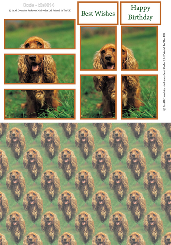 Large Tile Sheet - Mans Best Friend 3d Card Art RRP 75p