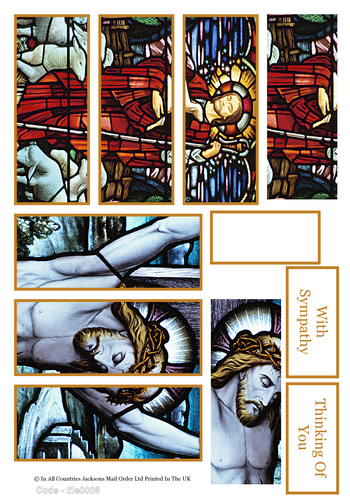 Jesus and Stained Glass Window - Sympathy and Festive / Christmas / Easter -Jacksons mail Order