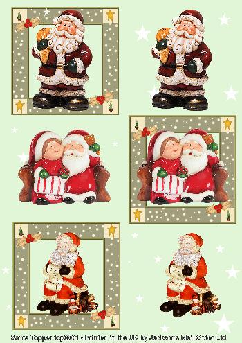 Topper Sheet - Father Xmas 3d Card Art Topper Sheets
