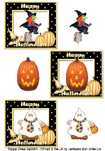 Topper Sheet - Halloween 1 3D Card Art Topper Sheets