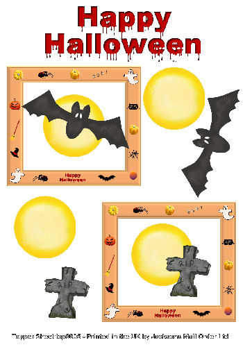 Topper Sheet - Halloween 2 3D Card Art Topper Sheets