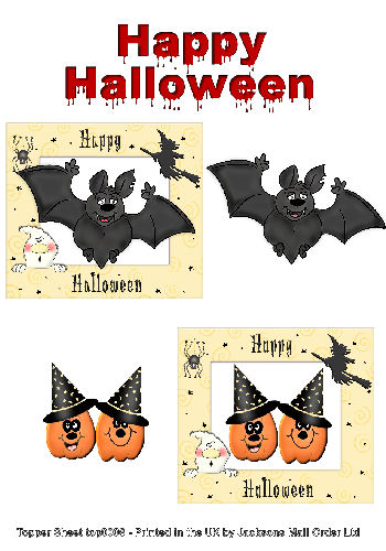 Topper Sheet - Halloween 3 3d Card Art Topper Sheets