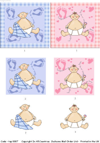 Large Topper - Baby 3d Card Art RRP 75p