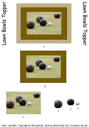 Large Topper - Lawn Bowls 3d Card Art RRP 75p