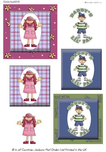 Large Topper - Children 3D Card Art RRP 75p