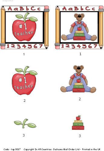 Large Topper - Teacher Topper 2 3D Card Art RRP 75p