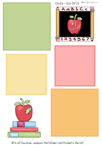 Large Topper - Teacher Topper 1 3d Card Art RRP 75p