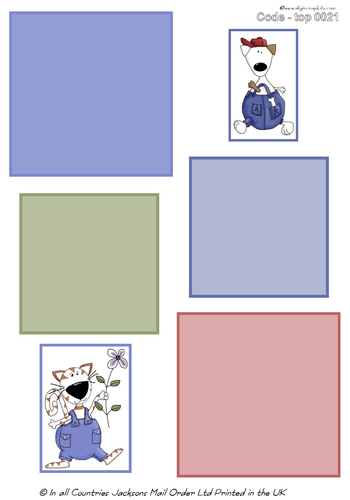 Large Topper - Cat and Dog 2 3d Card Art RRP 75p
