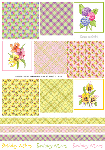 Tri Topper Sheet - Birthday 4 3D Card Art RRP 75p