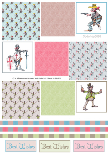 Tri Topper Sheet - Birthday 6 3D Card Art RRP 75p