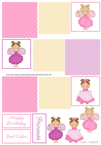 Multi Topper Sheet - Little Angels 3D Card Art RRP 75p