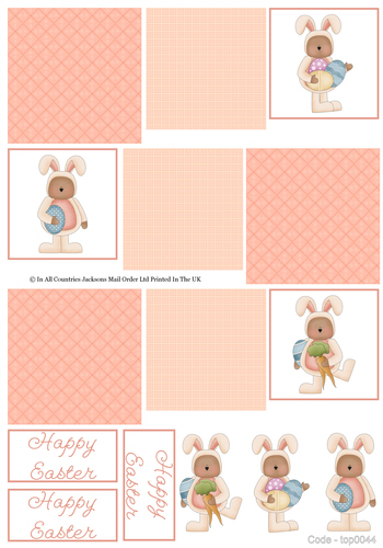 Multi Topper Sheet - Happy Easter 3d Card Art RRP 75p