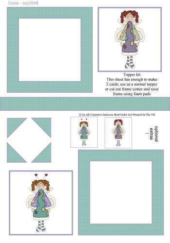 Multi Topper Sheet - Rag Doll Fairies 3D Card Art RRP 75p
