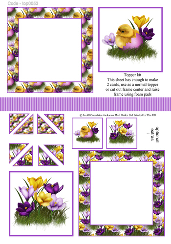 Multi Topper Sheet - Easter 3d Card Art RRP 75p