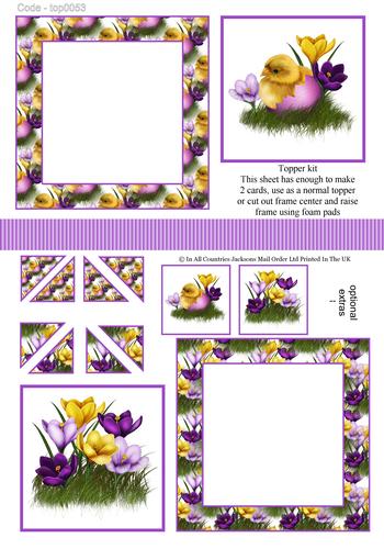 Multi Topper Sheet - Easter 3d Card Art RRP 75p