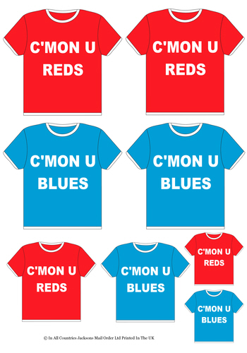 Multi Topper Sheet - Football Shirts 3d Card Art RRP 75p