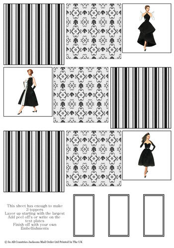 Multi Topper Sheet - Fashion 1 3D Card Art RRP 75p