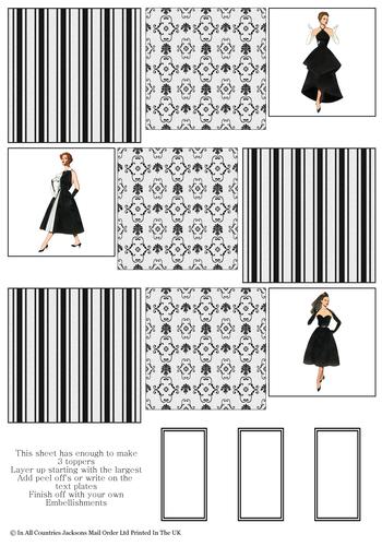 Multi Topper Sheet - Fashion 1 3D Card Art RRP 75p