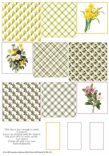Multi Topper Sheet - Flowers 3D Card Art RRP 75p