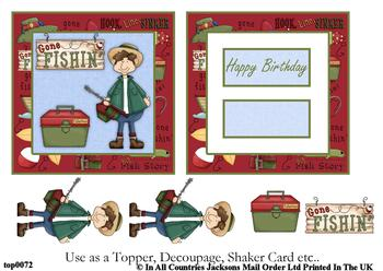 Gone Fishin' Topper Sheet . FANTASTIC OFFER!!!