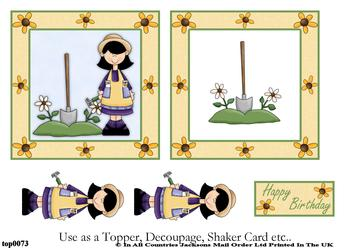 Gardening Birthday Wishes Topper Sheet . FANTASTIC OFFER!!!
